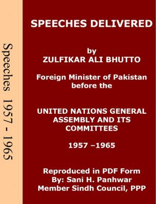 Speeches in UN from 1957 - 1965