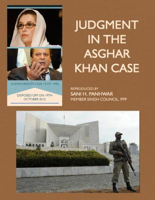Judgment in the Asghar Khan Case